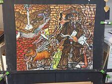 Urban Street Art Original Acrylic Painting Hand Signed Jazz Gangster Dog