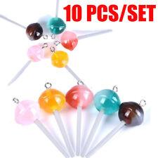 10Pcs/Set Resin Lollipop Charms Pendant Jewelry DIY Earring Making Craft