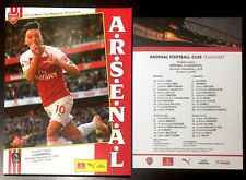 Arsenal v Liverpool Premier League Programme  With Team Sheet 3rd November 2018