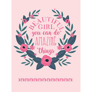 Kids Girl Beautiful Amazing Pink Floral Large Canvas Wall Art Print