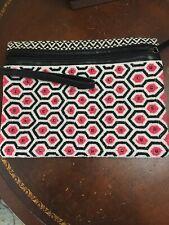 Big Buddha handbags Black Pink White Geometric Beaded Easter Clutch