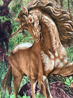 A.T.C. New York horse  Wall Tapestry Horse Unicorn Brown wild