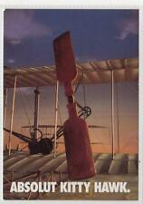 """ABSOLUT KITTY HAWK"": Absolut Vodka advertising postcard (C35245)"