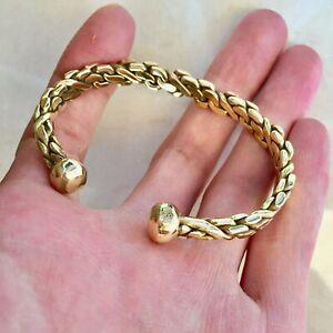Extremely Rare Ancient Viking Bracelet Bronze Artifact Authentic Stunning