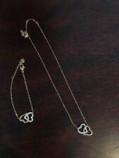 Swarovski Crystal Match interlock Heart necklace and bracelet set