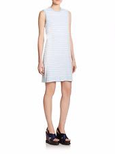 Marc by Marc Jacobs Striped Cotton Shift Dress Blue,White Size XS