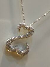 OPEN HEART COLLECTION BY JANE SEYMOUR 14K WHITE GOLD 0.30 CARAT SIMU. DIAMOND