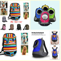 Pet Dog Puppy Dog Cat Canvas Backpack Front Tote Carrier Travel Net Bag