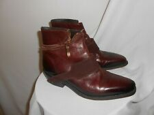 John Fluevog  Zipper  leather  Ankle Boots Booties  Size  W 8.5  M 6.5