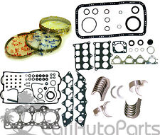 90-01 Acura Integra B18A1 GRAPHITE Full Set + Rings + Main Rod Engine Bearings