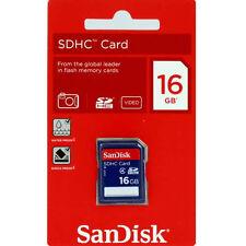New SanDisk 16GB SDHC Class 4 SD Flash Memory Card Camera 16 G GB SDSDB-016G-B35