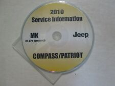 2010 JEEP PATRIOT & COMPASS Service Shop Repair Manual CD DVD BRAND NEW OEM JEEP