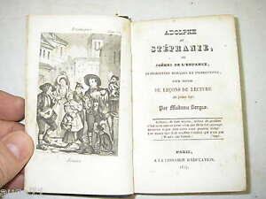 ADOLPHE ET STEPHANIE - Mme GORSAS 1837 - Ed. RARISSIME erreur impression SORGAS