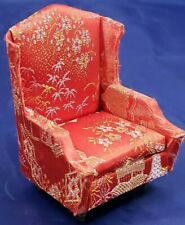 Dollhouse Miniature Furniture RED CHAIR. VINTAGE. LIVING ROOM, DEN, IDEAL JAPAN!