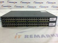 Lot(2X) Cisco Catalyst 2960X WS-C2960X-48TD-L 48 Port C290X-Stack