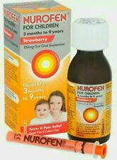 NUROFEN for CHILDREN 3+ Months to 9 Years ORAL Suspension STRAWBERRY 100ml