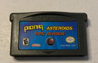 PONG / ASTEROIDS / YARS' REVENGE - NINTENDO GAMEBOY ADVANCE GBA GAME AND MANUAL