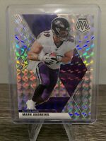 MARK ANDREWS 2020 PANINI MOSAIC FOOTBALL SILVER MOASIC PRIZM SP #22 RAVENS