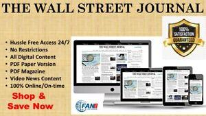 Wall Street Journal WSJ 5-Year Digital Subscription & Paper PDF Access 24/7