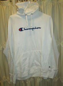Women's Hoodie Sweatshirt Champion Powerblend Fleece Pullover Logo XL New