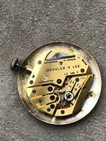 Vintage GL Gensler Lee Temp Wind Up 17 Jewels Watch Movement #192 - Working