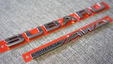 Subaru Symmetrical AWD Rear Trunk Badge / Emblem for Impreza 2012-2018 & WRX STI