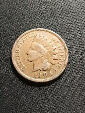 1904 Indian Head Cent *MINT ERROR* Nice Cud At 3:00  - INV#5072