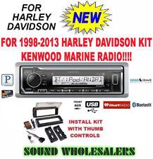 FOR 98-13 HARLEY KENWOOD KMR-M322BT TOURING INSTALL ADAPTER FLHT FLHTC FLHX RADI