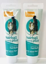 Hartz Hairball Remedy Plus for Cats 2.5 oz tubes Lot of 2 Salmon Flavor Exp 8/21