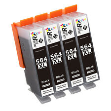 4 Black New GEN 564XL with Chip Ink Cartridge For HP 564 XL Officejet 4620 4622
