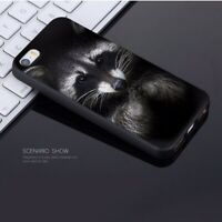 Cute Funny animal Raccoon Case iPhone 5 5S SE 6 6S 7 8 + plus X XS XR MAX