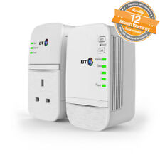 BT Wi-Fi 600 Home Hotspot Plus Powerline Wireless Network Booster Kit in White