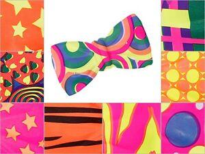 Bunte Clown-Fliege Party-Fliege Bunt Fasching Karneval Jumbo-Fliege Bow Tie NEU