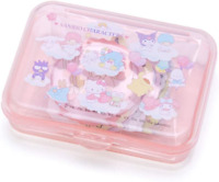 JAPAN Sanrio Characters Hello Kitty My Melody 40 Stickers Seal Pink Storage Case