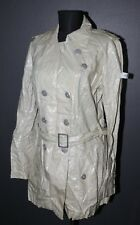 FRIEDA & FREDDIES New York womens trench coat jacket Size 38