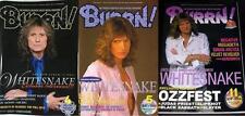 Whitesnake on COVER LOT of 3 Japan Magazines RARE! David Coverdale