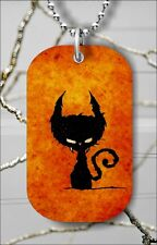 "LITTLE DEVIL TO ATTRACT LUCK DOG TAG PENDANT and ""FREE CHAIN"" -tdf5Z"