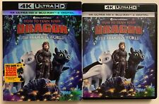 HOW TO TRAIN YOUR DRAGON 3 THE HIDDEN WOLRD 4K ULTRA HD BLU RAY 2 DISC SLIPCOVER