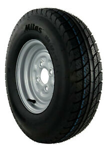 5.00-10 C 72N / 4PR Komplettrad 135/145-10 Trailer Anhänger Rad Mitas 3.50x10