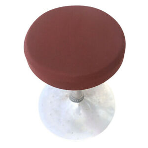 2PCS Home Kitchen Stool Slipcovers Round Bar Stool Cover Seat Cushion Proctector