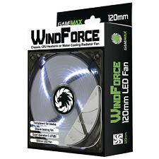 GIOCO Max Windforce, 4 x LED bianchi, 120mm Ventola PC 12cm Ventola Case Alte Prestazioni