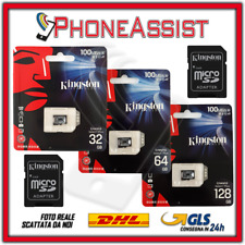 KINGSTON CANVAS+ MICRO SD 32 / 64 / 128 GB CLASS 10 SCHEDA MEMORIA SDCS2 100MB/s