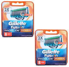 16x Gillette Fusion PROGLIDE POWER 2x 8er Gillete Gilette Gilete razor blades