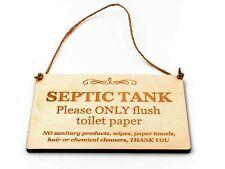 Fosse Septique Réservoir Bois Signe pour Salle de Bain Wc W.C Seulement Papier