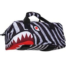 Sprayground Zebra Mid Duffel Bag (white / black)