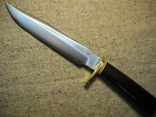 Black Jack Effingham IL USA #1-7 Classic Fixed Blade Knife Black Linen Micarta