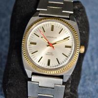 Vintage Caravelle (Bulova) N7 Men's 17J Winding Wristwatch Fluted Bezel  VG