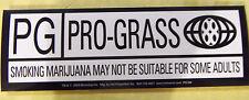 PG PRO GRASS New Marijuana,Weed Related Vinyl Decal Sticker Bumper