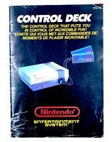 Notice Console Nintendo Entertainment System NES Control Deck PAL FRA