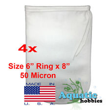 "4x Filter Bag 6"" x 8"" 50 Micron Felt Polypropylene Made in USA"